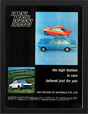 "1968 FIAT 124 SPORTS COUPE AD A3 FRAMED PHOTOGRAPHIC PRINT 15.7""x11.8"""