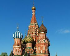 St. Basil's Cathedral in Moscow, Russia  8x10 Photo Picture