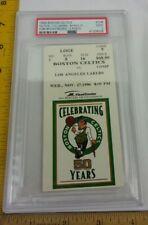 Lakers v Celtics Nov 27 1996 PSA graded ticket Kobe Bryant Rookie 1st Celtics