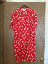 Women's Ungaro Red & White Floral Print Silk Dress Size 12/46