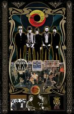 """The Band-11x17""""collage poster - vivid colors/deep blacks - signed by artist"""