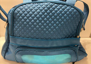 Lug Full Size Travel Bag and Diaper Bag- Loads of pockets and features Teal Blue