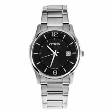 Citizen Men's Classic Black Dial Watch Quartz Mineral Crystal BD0020-54E
