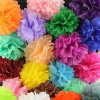 "5~150pcs 6""/15cm Paper Tissue Pom Poms Flower Balls Decor Wedding Party Home"