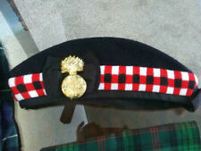 WW2 1945 ROYAL SCOTS FUSILIERS GLENGARRY CAP, BRITISH BADGE Trew Scarf