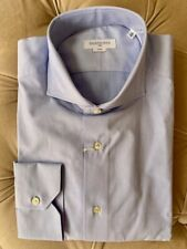 Bleu ciel Marks and Spencer m/&s Homme à Manches Longues Polo Chemise Large L Neuf BNWT