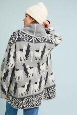 NWT Anthropologie Hooded Llama Knit Cardigan Sweater by Akemi + Kin Sz. Small.