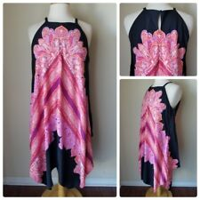 White House Black Market Sleeveless Scarf Printed Shift Dress Dark Berry 10