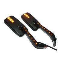 LED turn signal Rectangle Black Mirrors Harley Davidson V-Rod Night Street V Rod