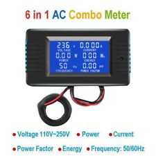 AC 6in1 monitor 110V 220V 100A Voltage Current Power Factor KWH Frequency meter