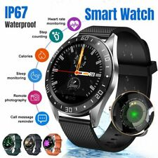 Bluetooth Smart Watch Fitness Blood Pressure Heart Rate Full Touch Waterproof AU