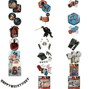 Disney Star Wars Kids Birthday Party Tableware Decorations Favors Party Balloons
