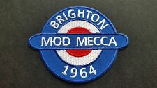MOD SKA SCOOTER SEW ON / IRON ON PATCH:- BRIGHTON 1964 MOD MECCA (Size b)
