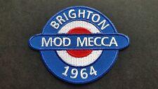 MOD SKA SCOOTER SEW ON / IRON ON PATCH:- BRIGHTON 1964 MOD MECCA (Size b)