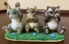 Charming Tails Hear See And Speak No Evil Rabbit Mouse Raccoon Figure Fitz Floyd