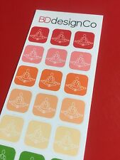39 Yoga Exercise Work Out Gym Stickers for All Types of Planners