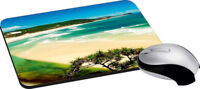 Beach Mouse Pad Soft Rubber Keyboard Large Computer Gaming Mouse Desk Pad New
