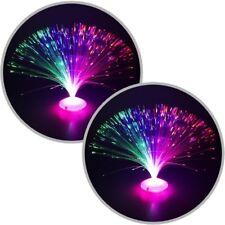 2x Glasfaserlampe UFO Glasfaser-Lampe Leuchtfaserlampe Retrolampe Dekolampe 30cm