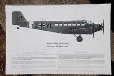 Junkers Ju-52 Signed by Pilot, Aviation Art, Ernie Boyette