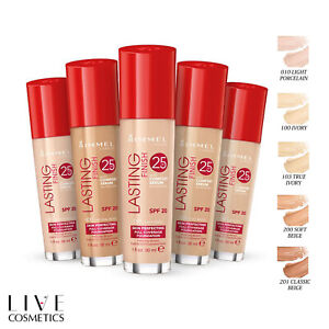 RIMMEL LASTING FINISH FOUNDATION 25HR, With Comfort Serum *CHOOSE YOUR SHADE*