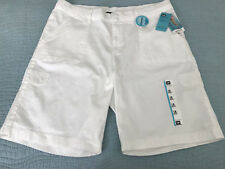 Lee Bermuda Shorts Sz 18M Relaxed Fit White Cotton NWT