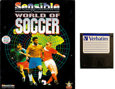 """SENSIBLE WORLD OF SOCCER floppy disc 3,5"""" Commodore Amiga backup game disk (READ"""