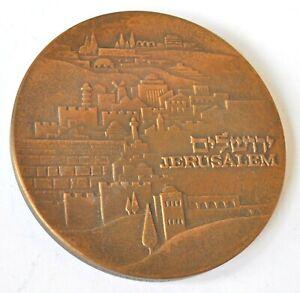 ISRAEL, JERUSALEM, THE KNESSET, 70mm BRONZE MEDAL UNC