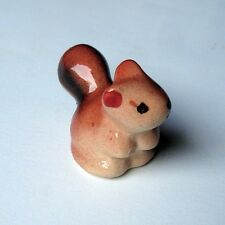 Tiny Ceramic Cute Squirrel FIGURINE Home Garden Decor MINIATURE Gift DOLLHOUSE