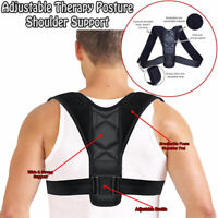 Back Posture Corrector Shoulder Straight Support Brace Belt Therapy Men Women PB