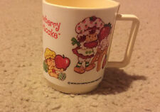 Vintage Plastic  Strawberry Shortcake Mug Cup American Greetings 1980