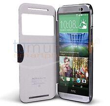 COVER FLIP NILLKIN di Pelle NERA per HTC ONE 2 (M8)
