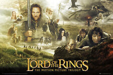 """THE LORD OF THE RINGS POSTER """"TRILOGY"""" LICENSED """"BRAND NEW"""" J R R TOLKEIN"""