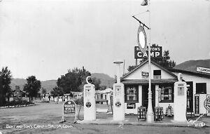 H65/ Salida Colorado RPPC Postcard c1943 Bert and Tom's Gas Station Camp 72