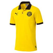 Polo-Shirt Retro Borussia Dortmund BVB Polo Shirt von PUMA Stencil Gr. M gelb