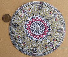 1:12 Scale 13cm Diameter Circular Hearts Rug Dolls House Miniature Carpet 3945
