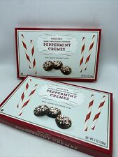 Trader Joe's Dark Chocolate Covered Peppermint Cremes Cookies 2 Packs 7 oz Each
