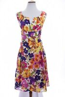 Adrianna Papell Fit and Flare Dress A Line Surplice Floral Print Sz 12 Large