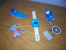 McDonalds Toy - London 2012 Olympics  Mascot blue grey archery boat boxing watch
