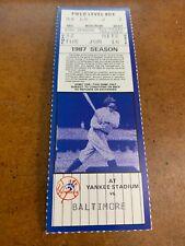 1987 New York Yankees v Baltimore Orioles Baseball Ticket Dave Winfield HR #319