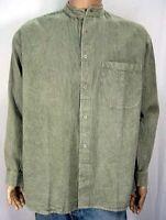 Grandad Cowboy Heavy-Cotton Timeless Collarless Shirts Button thru  S to 2XL