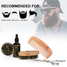 Men Beard Care Kit Baln Set Grooming Balm Oil Mustache Travel Husband Xmas Gift