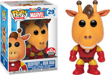Funko POP: Geoffrey the Giraffe as Iron Man [Fan Expo Canada Exclusive] In Hand!