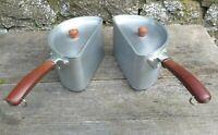 c1950's Vintage Swan Half Round Double Pan Set  - 2 x 3 Pint - Bakelite Handles