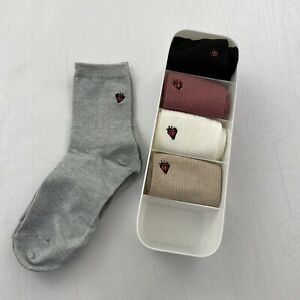 Jill Stuart Socks Women's Multi 5-Pack Gift Box New Size 7-9