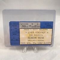 Linda Ronstadt Busboys Reunion Arena Dallas Concert Ticket Stub Vintage Nov 1982