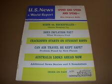 U.S. News & World Report, January 1, 1968, Nixon vs. Rockefeller, Student Riots!