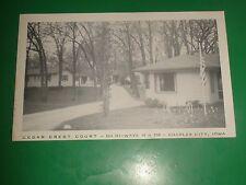 ZT313 Vintage Postcard Cedar Crest Court Charles City Iowa