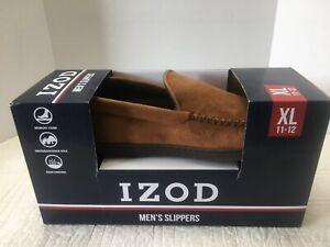 New Mens Izod Slippers Indoor/Outdoor Tan XL Or XXL