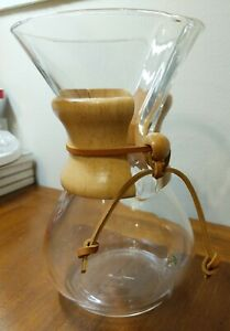 Chemex CM-6A 6-Cup Coffee Maker with Wood Caddy Clear in Box NM