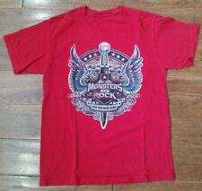 men's Monsters of Rock The Voyage Cruise 2012 Red shirt m l